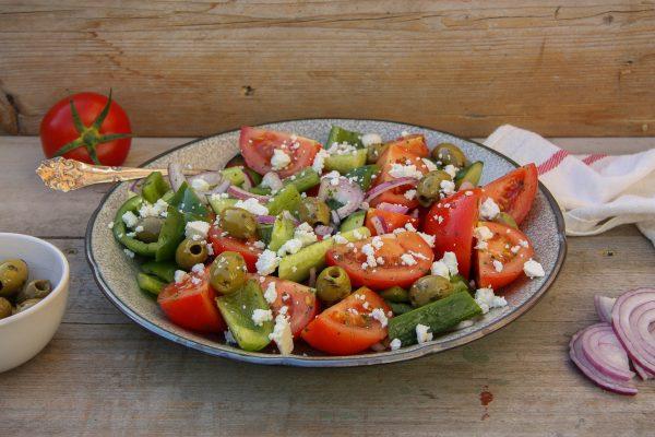 Griekse salade personal training uitgeest